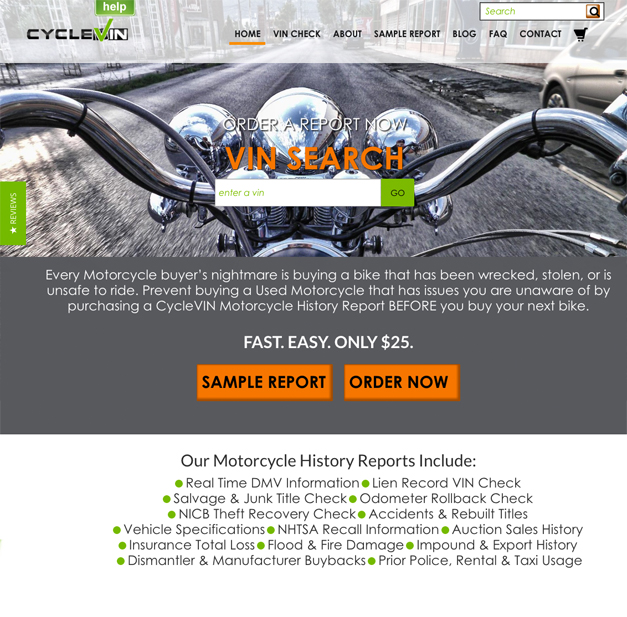 Cyclevin Website Portfolio image