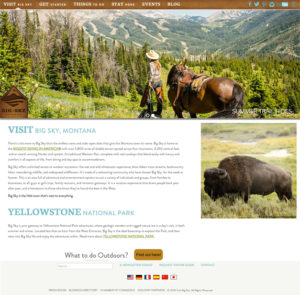 Visit Big Sky Montana Website