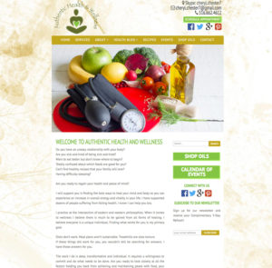 Authentic Health and Wellness Website
